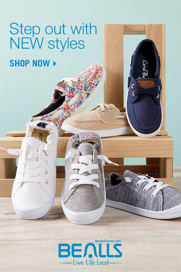 canvas shoes from Bealls! Put some pep