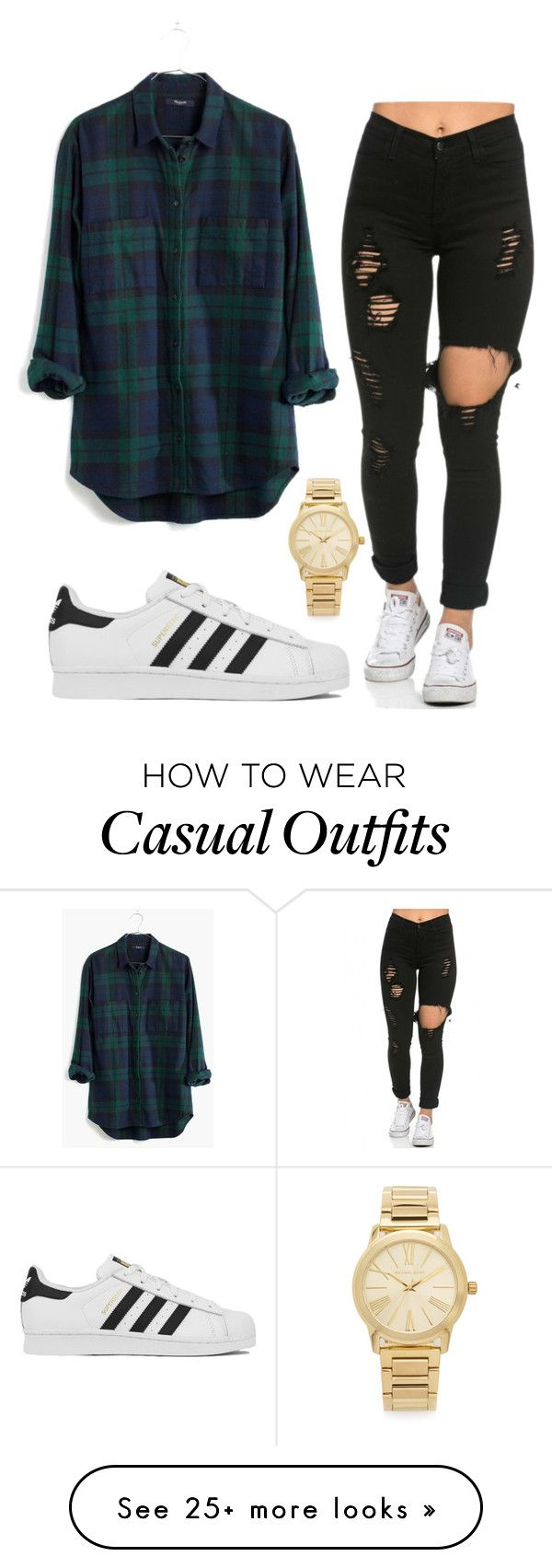 """casual and beautiful Yes or no?"" by ruthjauregui on Polyvore featuring Michael Kors, Madewell and adidas"