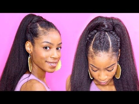 (7) Easy Cornrows Ponytail► Natural Hair Protective Styles - YouTube