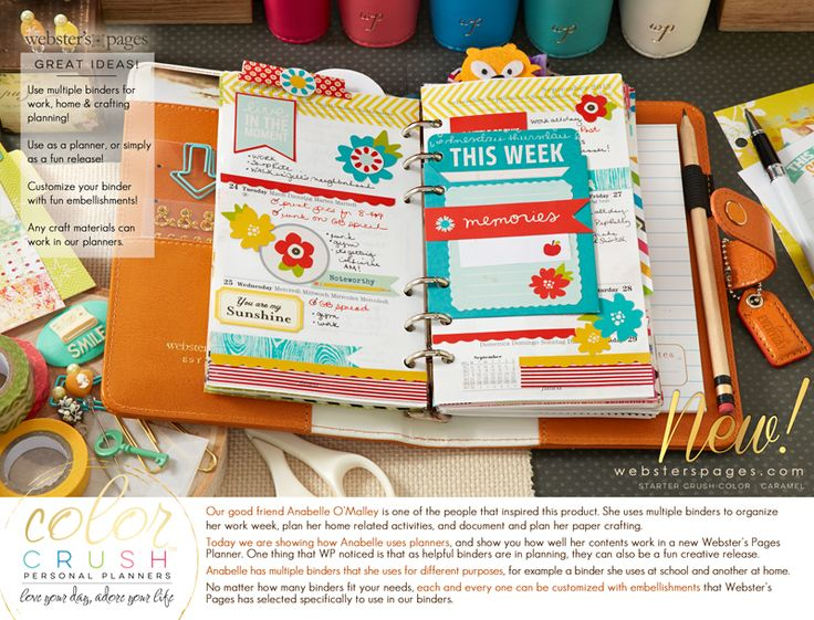 Websters Pages Color Crush planners s