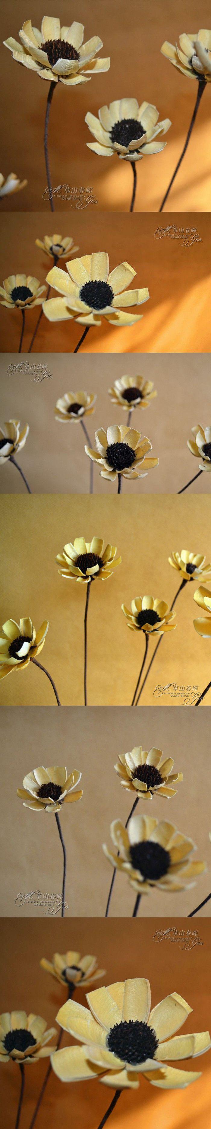 Dried chrysanthemum rustic wood dining table DIY European country home window display wholesale floral art plant $9.9