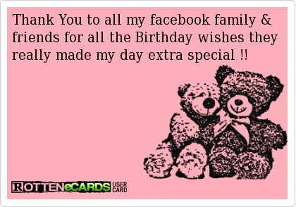 25 best thank you images on pinterest birthday wishes birthdays thank you to all my facebook family friends for all the birthday wishes they really m4hsunfo