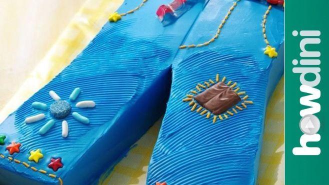 Erkek Çocuğunuz İçin Mavi Kot Pantolon Yaş Pasta Tasarımı - Özel günler için erkek çocuğunuza mavi kot pantolon yaş pasta yapımı