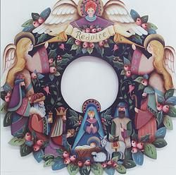 Nativity Wreath 22