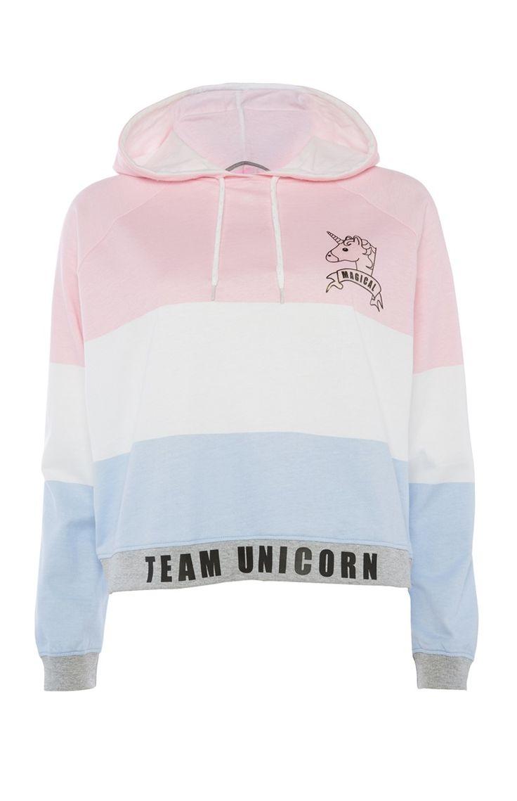 Korte hoodie Team Unicorn