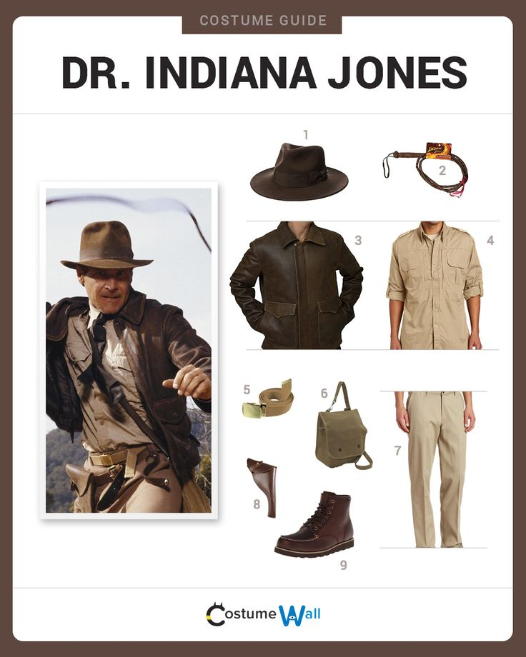 Dress Like Dr. Indiana Jones from the movies. See additional costumes and Indiana Jones cosplays.