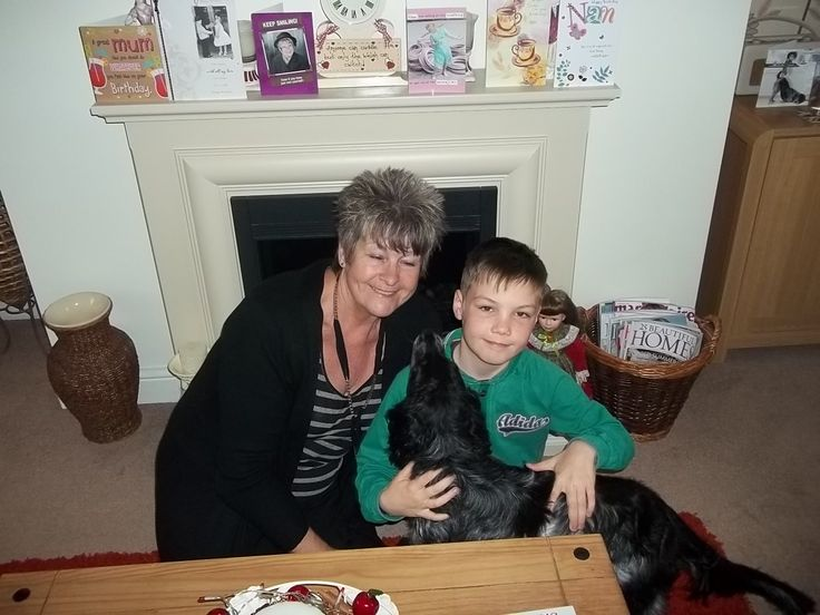 me, my grandson, and my dog bella.