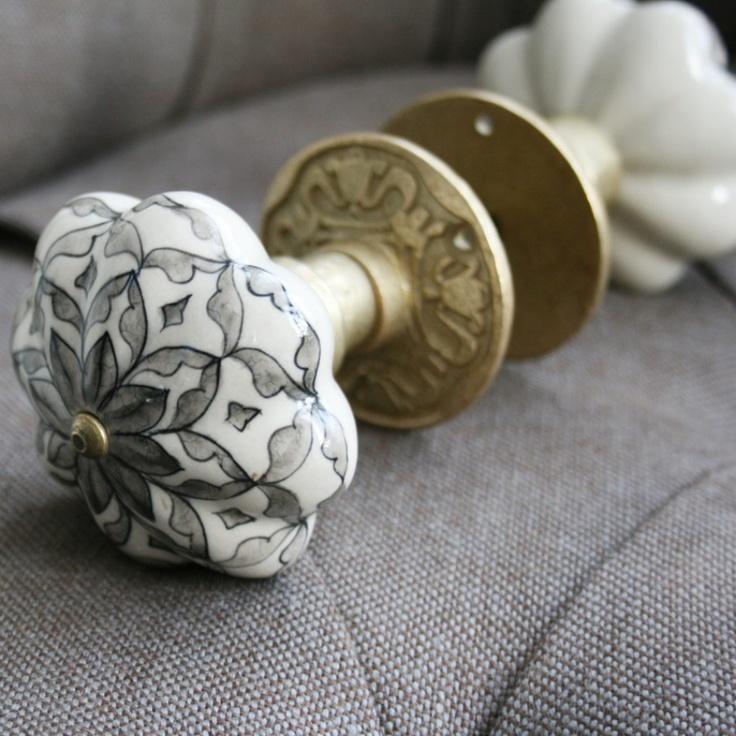 Ceramic Door Knob Set - Door Knobs & Handles - Home