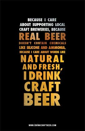 Because I care about supporting local crafft breweries, because real beer doesn&…