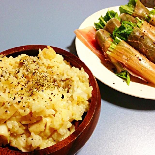 レシピとお料理がひらめくSnapDish - 3件のもぐもぐ - シーフードリゾット・水菜と生ハム by Maki Kubo