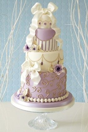 This is my dream cake but the bow on top would be a bride and groom