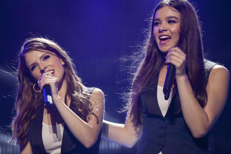 "'Pitch Perfect 2' "" Barden Bellas Beca (Anna Kendrick) & Emily (Hailee Steinfeld) """