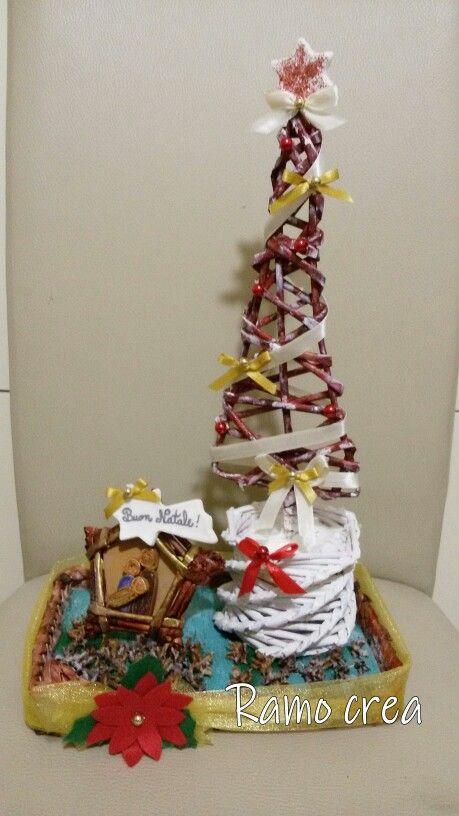 Composizione natalizie. . . cannucce di carta