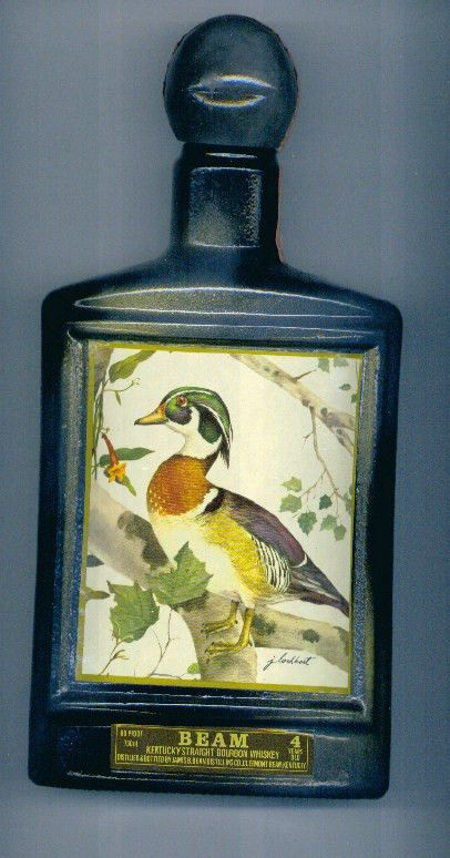 Wood Duck Art Deco Jim Beam Beams Choice Antique Whiskey