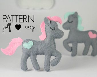 Unicorn Sewing Pattern Unicorn Party Favor Cake by MaisieMooNZ