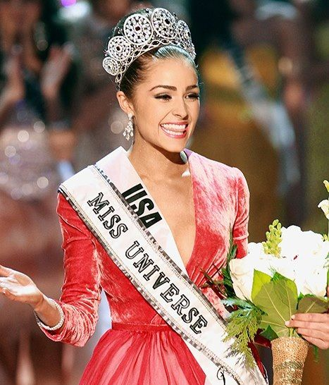 """Olivia Culpo, at the ripe age of 20 she enter her first pageant (Miss Rhode Island USA), moving on to win Miss USA and then Miss universe even after slipping on stage! She is a Boston University student and a cellist. She is of italian heritage and stand at 5'5""""! Bella!"""