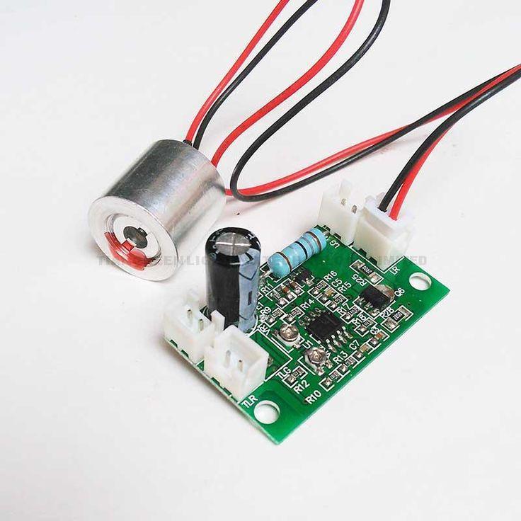 100㎚백만와트 다이오드 레드 레이저 모듈 + 무료 레이저 드라이버 보드 (DC5V 입력, 808의/532nm로 &㎚+ TTL)