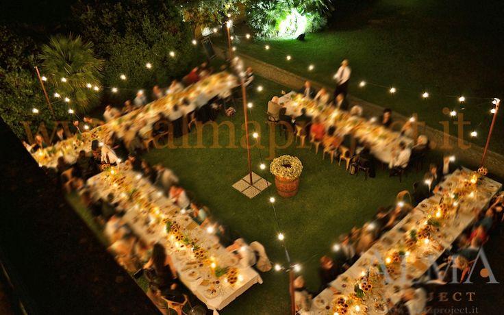 #Floraliadecor #AlmaProject #Maiano #LightBulbs #String #FairyPalo #CountryDinner #TerraceAmberPanorama