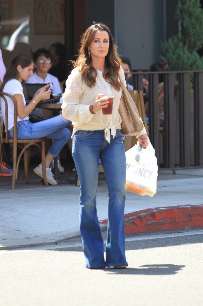 More Pics of Kyle Richards Flare Jeans (22 of 23) - Kyle Richards Lookbook - StyleBistro