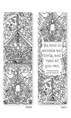 Spring Garden Coloring Bookmarks Set Of 5 Bookmarks Bookmarks
