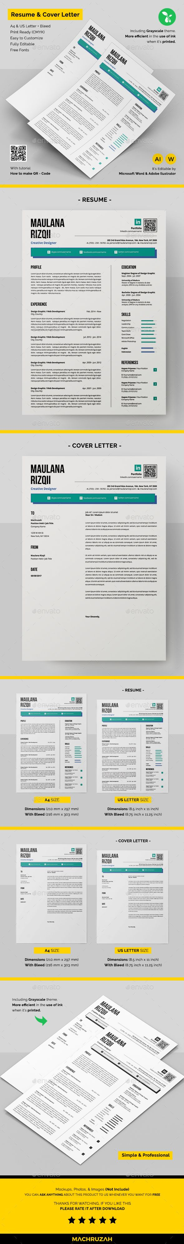 Resume #professional resume #a4  • Download here → https://graphicriver.net/item/resume/20649047?ref=pxcr