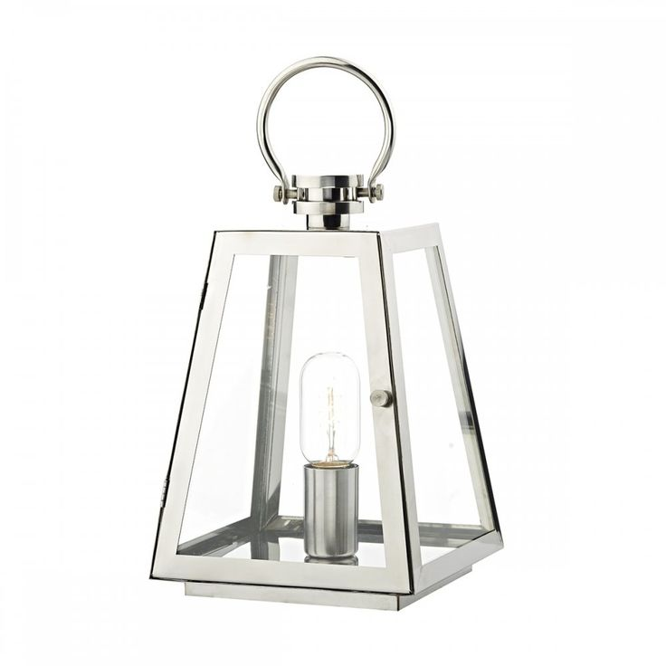 Dar Lighting Acre Single Light Outdoor Table Lamp In Stainless Steel Finish - Dar Lighting from Castlegate Lights UK