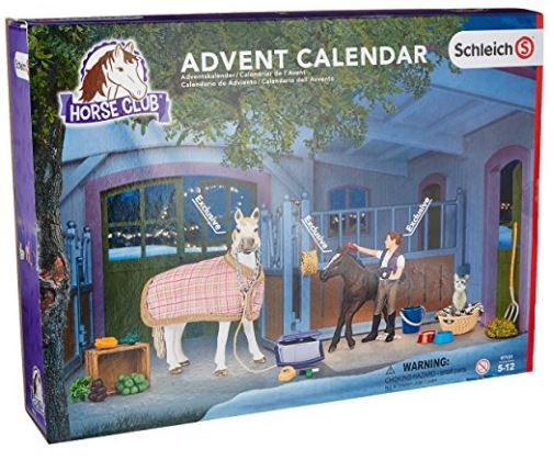 Schleich North America Horses Advent Calendar 2016 Playset Great for any horse lover for a real down on the farm fun!   Includes 2 horse, cat, and many accessories.