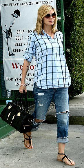Heidi Klum pregnancy style