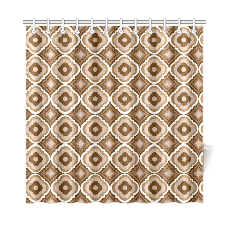 Autumn Chill   Geometric   Earth Tones (7) Shower Curtain 72