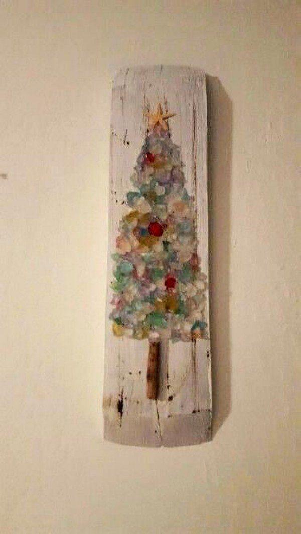 Adorable Christmas decoration DIY with sea glass pebbles @istandarddesign
