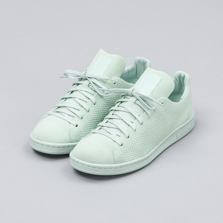 adidas Stan Smith Primeknit in Vapour Green S80066 Side View