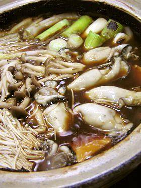 八丁味噌使いの 牡蠣の土手鍋