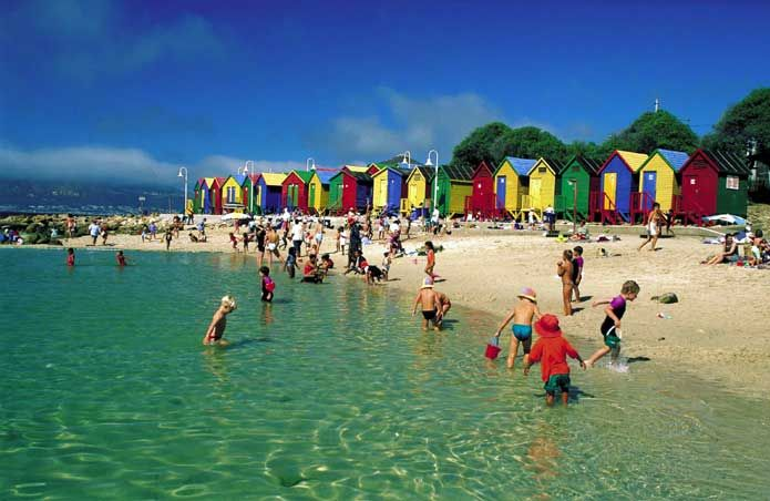 St James and Kalk Bay Beaches, Cape Town, South Africa