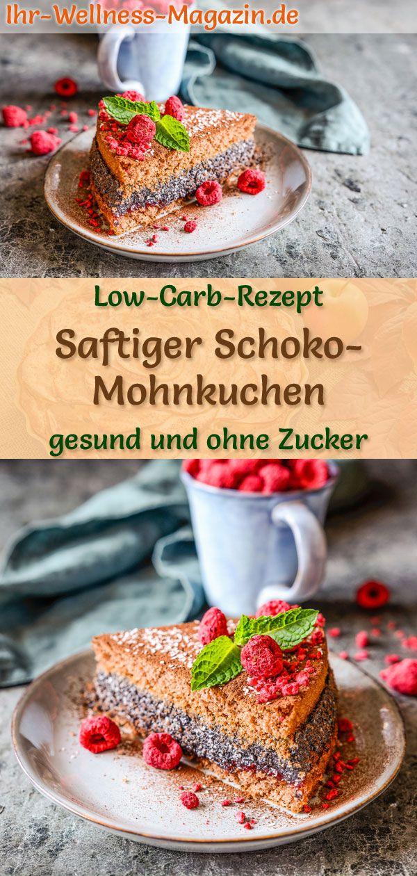 Saftiger Low Carb Schoko Mohnkuchen Rezept Ohne Zucker Mohnkuchen Rezept Zuckerfrei Backen Rezepte