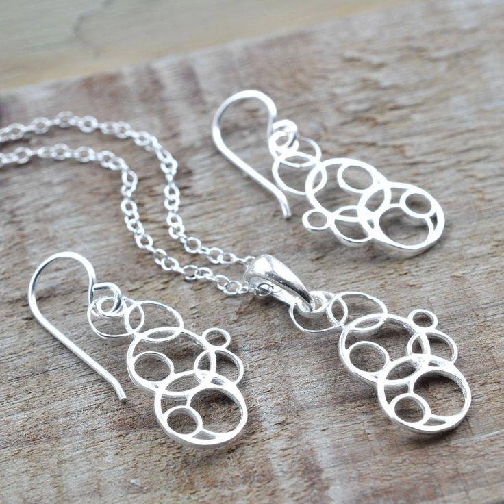 Silver Bubbles Jewellery Set