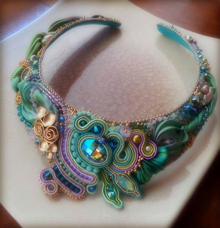 Shibori and soutache by Serena Di Mercione