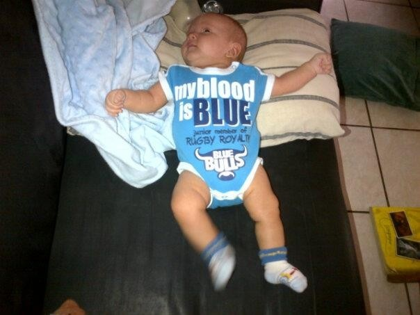 Cute entry from Isaac Mokoena of a future little Blue Bull :) - http://on.fb.me/XkyP22
