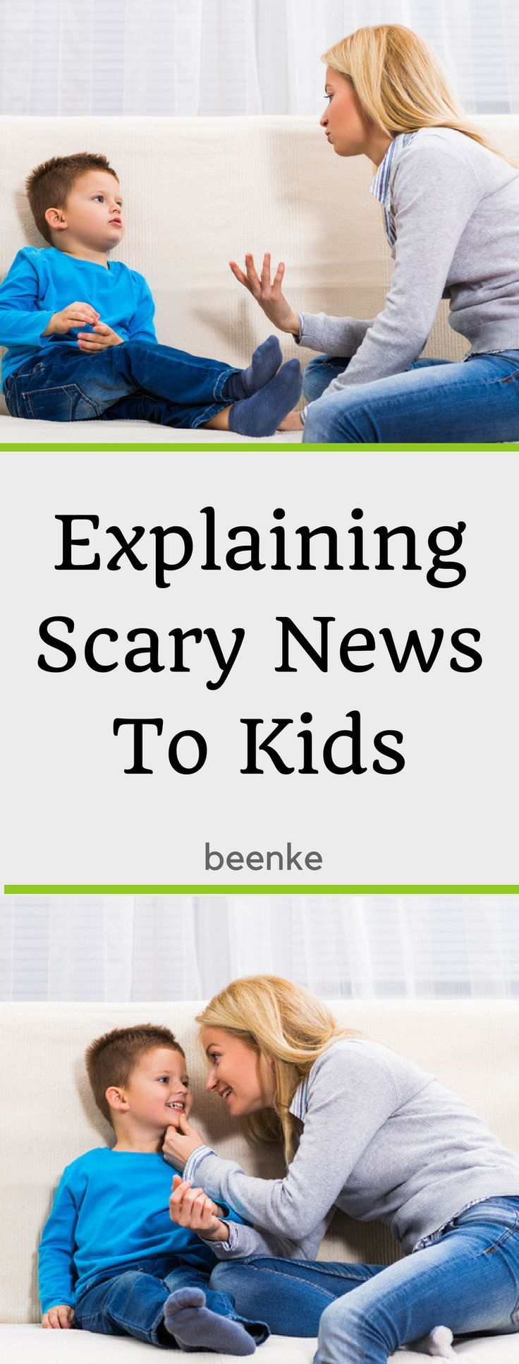 Not sure what to say when your kids ask about scary events in the news? (i.e. natural disasters, shootings, terrorist acts, etc) Let us help you explain scary news to kids. We have 6 tips, all age appropriate and talking scripts for different events. #beenke #ParentingTips