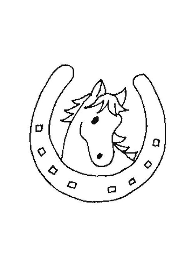 Fer a cheval chambre pinterest coloriage dessins - Fer a cheval dessin ...