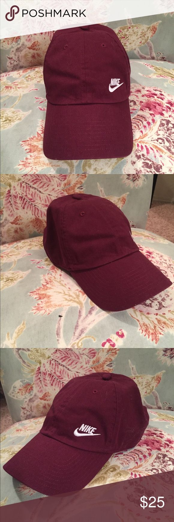 Nike hat BNWOT Brand new never worn no tags. Adjustable. Maroon color Nike Accessories Hats