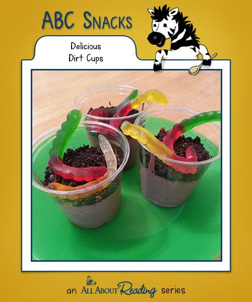 D is for Delicious Dirt Cups: This snack may look like dirt, but it tastes…