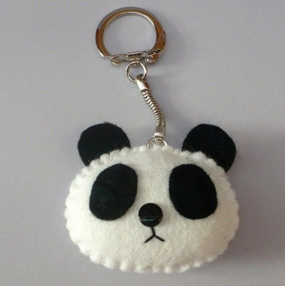 Felt Panda keychain