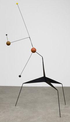 'Morning Star' (1943) by American artist & sculptor Alexander Calder (1898-1976).     Painted sheet steel, steel wire, & painted & unpainted wood, 76.75 x 48.375 x 45.75 in. via MoMA