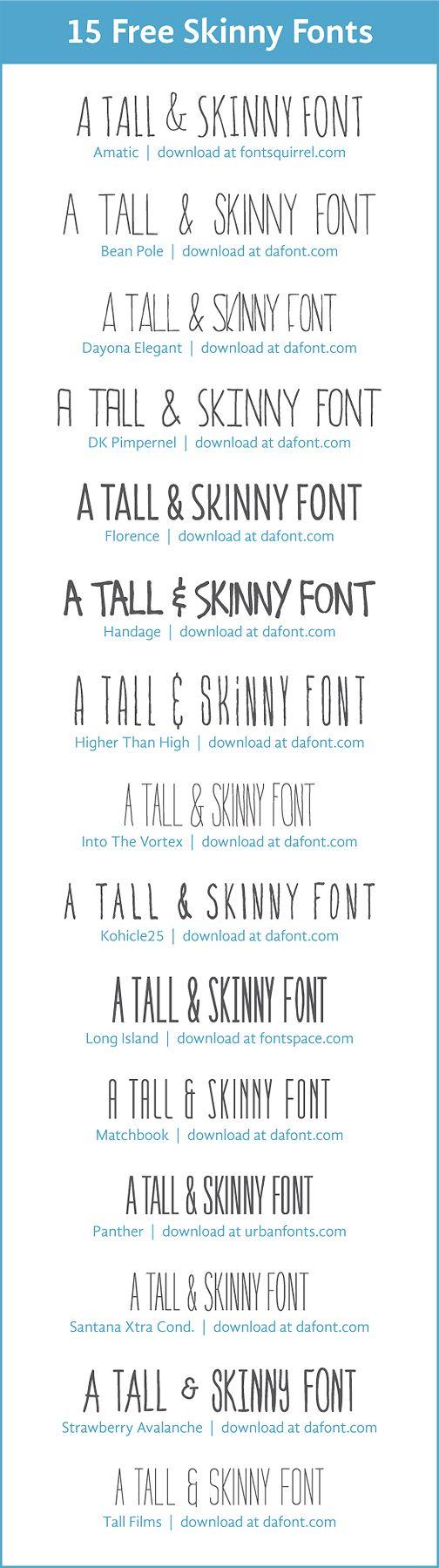 15 free skinny fonts