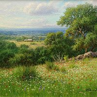 texas hill country oil painting by William Hagerman copyright 2012