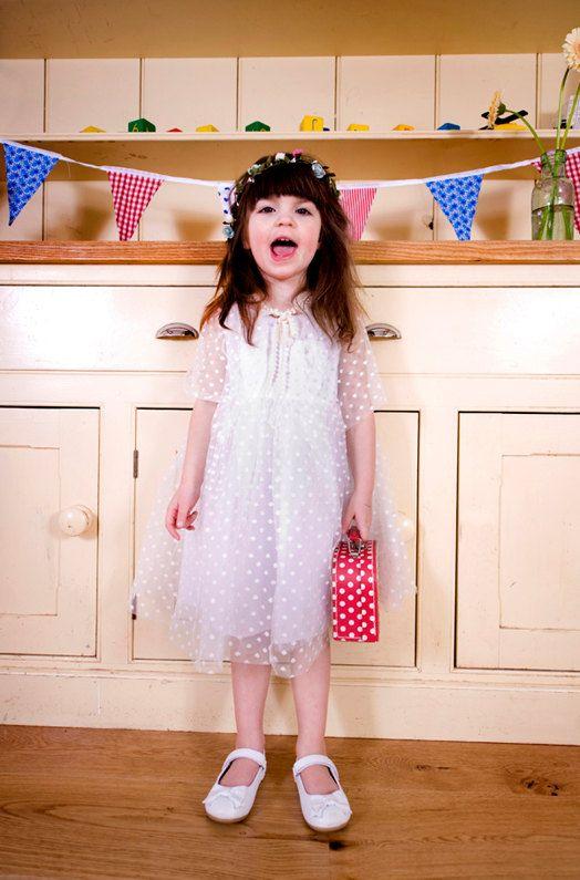 Polka Dot Tulle Bridesmaids Dress  Flower Girl by AnnaandAlex, £120.00