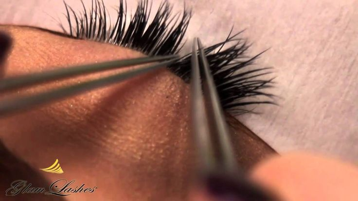 Semi Permanent Individual Lash application, lash art and removal of false lashes Glam Lashes training video 1 #individuallashes