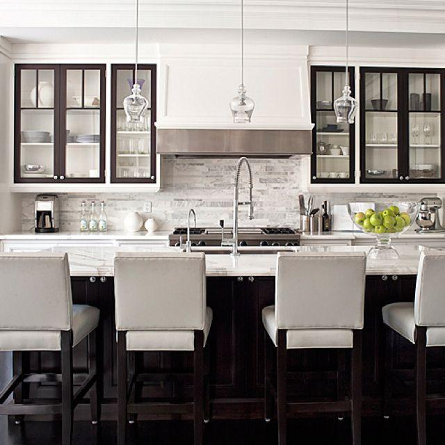 Love this black and white styled kitchen. Sarah Richardson Design - Kitchen