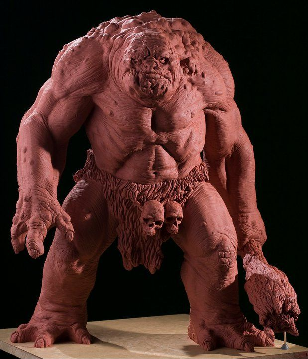 Rick Fernandes.  I love the anatomy in this sculpt and how there is just enough detail.  #Creature, #ZBrush, #Sculpture
