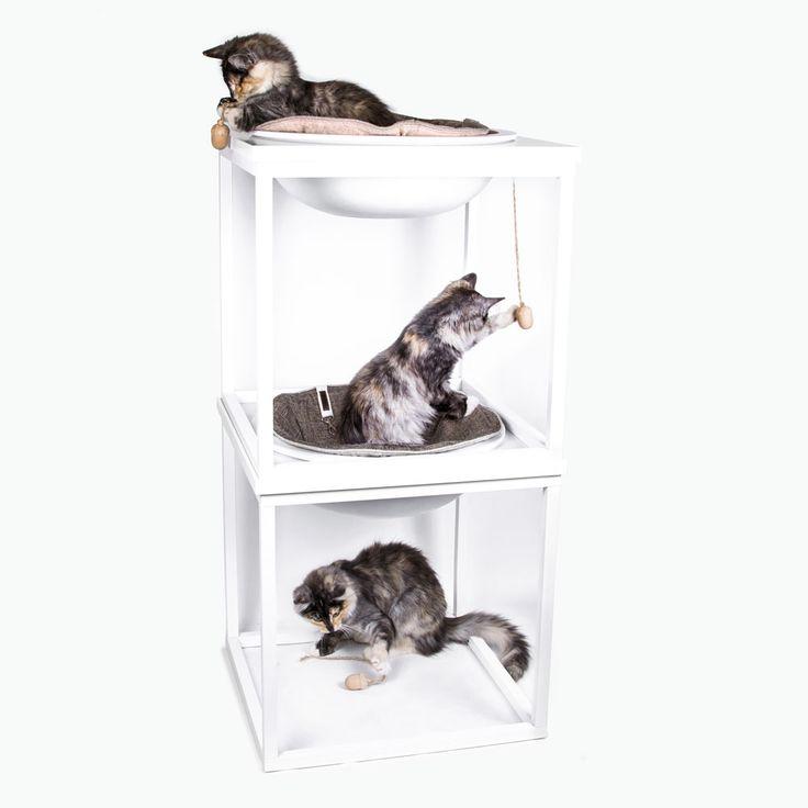 Esther i Miwo Berga staplingsbara kattbäddar, finns i många olika färger och kombinationer. Se mer på www.miwodesign.com